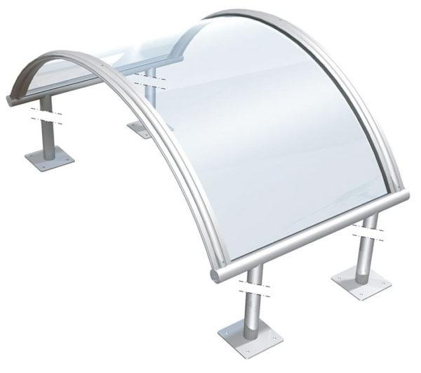 Pensiline per finestre e porte in plexiglass modello - Finestre in plexiglass ...